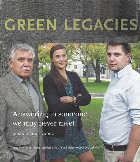Green Legacies – Malcolm Cockwell