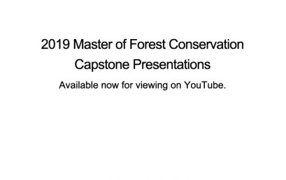 2019 Master of Forest Conservation Capstone Presentations