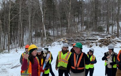 Master of Forest Conservation students head north for their annual Winter Field Tour