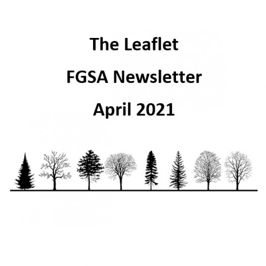 The Leaflet: FGSA's monthly newsletter (April 2021)