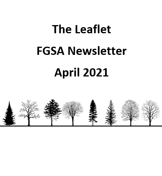 The Leaflet: FGSA's monthly newsletter (April 2021)