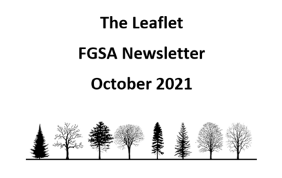 The Leaflet: FGSA's monthly newsletter (October 2021)