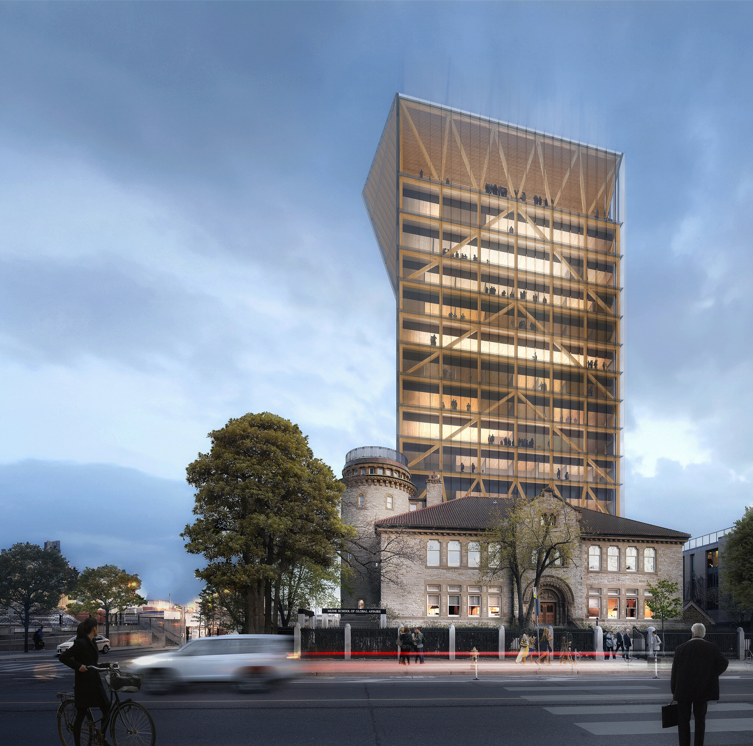 University of Toronto's Academic Tower. Rendering courtesy of Patkau and MJMA.