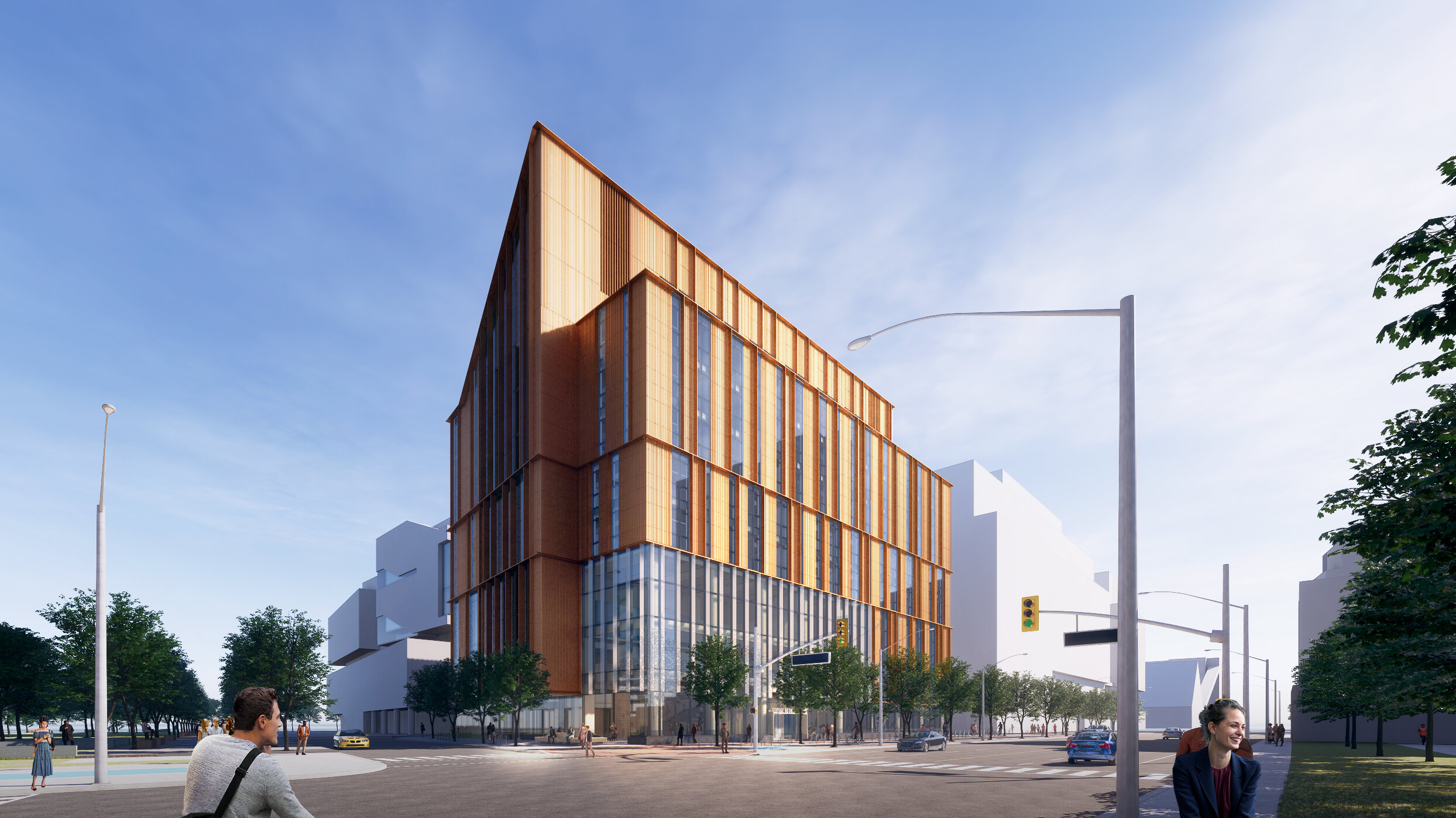 George Brown College's The Arbour. Rendering courtesy of Moriyama & Teshima Architects.